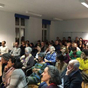 Social workers and volunteers meeting at the Austrian Association of Social Workers last week