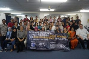 Disaster Workshop in Malaysia attendees