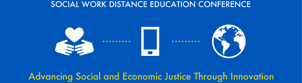 Social Work Distance Education conference banner
