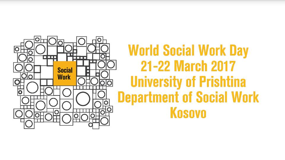 World Social Work Day 2017 Kosovo promotional poster