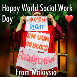 Happy World Social Work Day from Malaysia