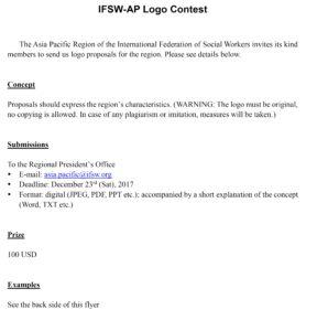 IFSW-AP logo contest flyer